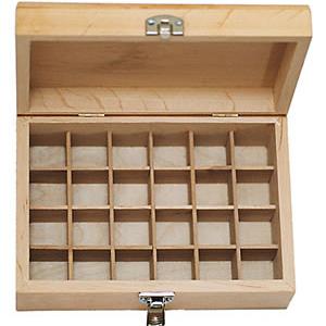 24 Bottle Wooden Aromatherapy Box