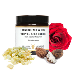 Whipped Frankincense and Rose Shea Butter 120ml NEW FORMULATION Single