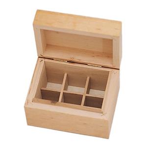 6 Bottle Wooden Aromatherapy Box