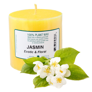 Jasmin Candle 3 X 3 (Single)