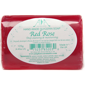 AA Skincare Red Rose Clear Glycerin Soap 125g Single