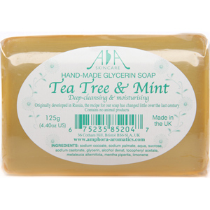 AA Skincare Tea Tree Clear Glycerin Soap 125g Single
