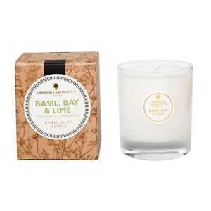 Basil, Bay & Lime 40hr Pot Candle.