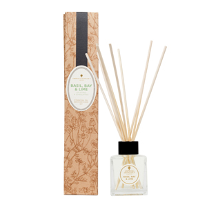 Reed Diffuser Kit - Basil, Bay & Lime.