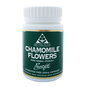Chamomile Flowers 250mg Powdered Herb x 60 caps.