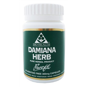 Damiana Herb 300mg Powdered Herb x 60 Caps