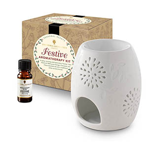 Festive Aromatherapy Kit - with Style 2 traditional burner.