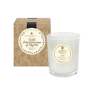 Gold, Frankincense & Myrrh Mini Pot Candles NEW. Single