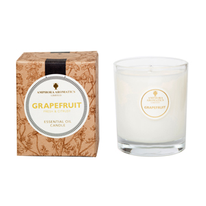 Grapefruit 40hr Pot Candle. Fresh & Citrusy.