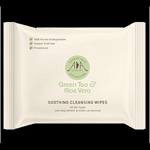 Green tea & Aloe Vera Soothing, Cleansing Wipes