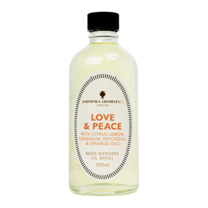 Reed Diffuser Refill Pack  100mls - Love & Peace.