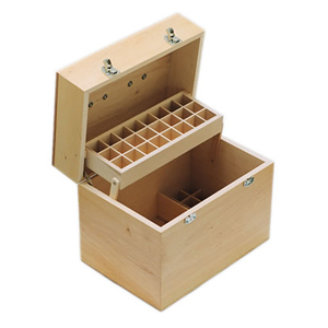 Practitioners Wooden Aromatherapy Box