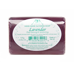 AA Skincare Lavender Clear Glycerin Soap 125g Single