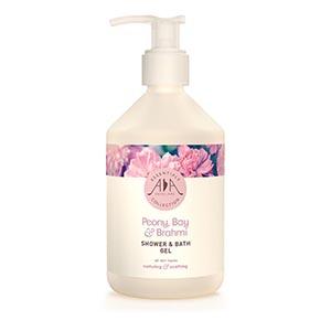 Peony, Bay & Brahmi Shower & Bath Gel AA Skincare - Salon Size 500ml