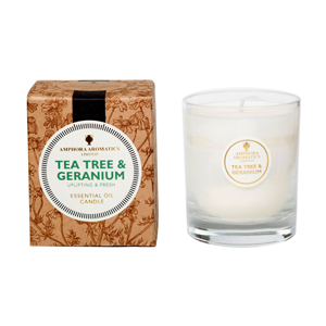Tea Tree & Geranium 40Hr Pot Candle.