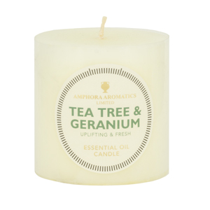 Tea Tree & Geranium Candle 3 X 3 (Single)